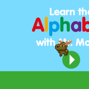 screenshot of Learn the Alphabet with Mr. Moose